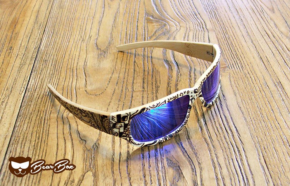 SPORT DOODLE: gli occhiali sportivi in bamboo interamente pirografati