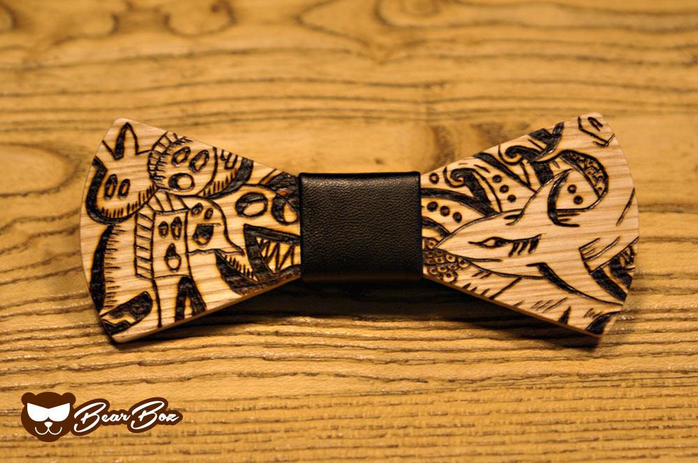 Papillon in legno SHARK & MONSTERS: lo stile secondo Bear Boz